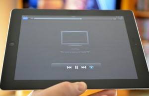 iPad conectado a la TV