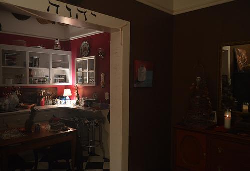 Lámpara en la cocina