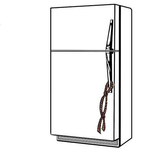 Ata una cuerda al refrigerador