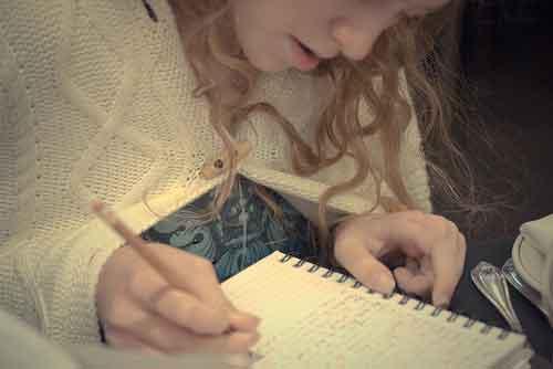Escribe en un diario las cosas que te preocupan