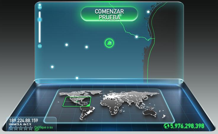 Cómo conocer la velocidad de internet