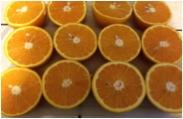 Corta las naranjas