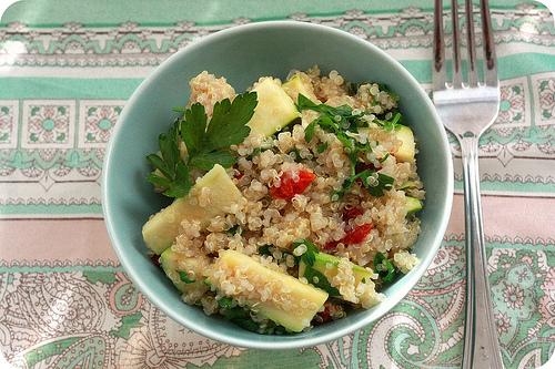 Quinoa con carne y verduras