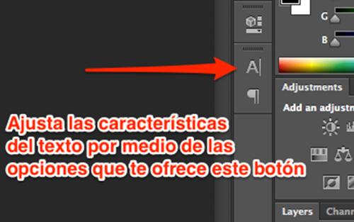 Edita las características del texto