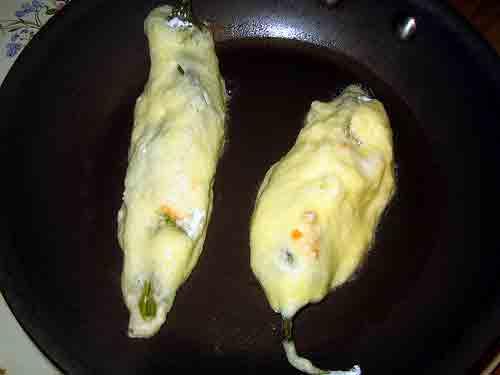 Fríe los chiles
