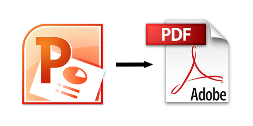 make a pdf from a power powerpoint
