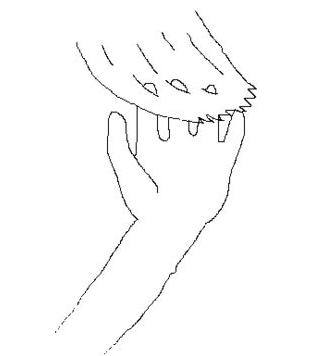 Pasa los dedos a lo largo de tu cabello
