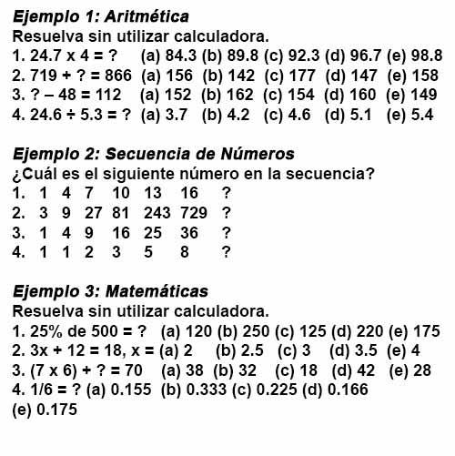 Test psicosomático de aritmética