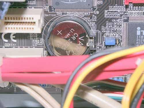 Encuentra la batería del CMOS