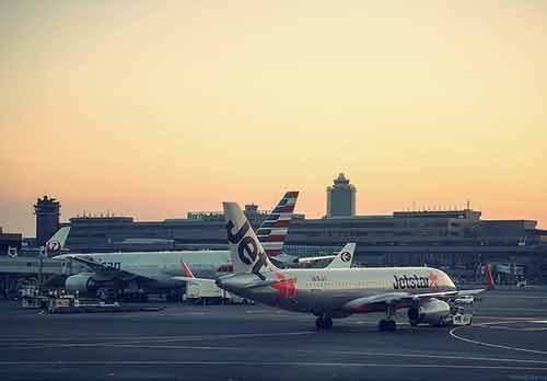 Observa los aviones que despegan y aterrizan