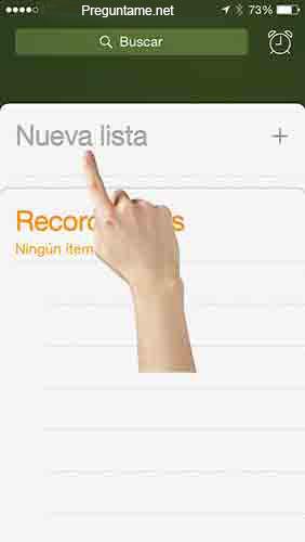 Haz clic en Nueva Lista