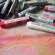 Cómo pintar con crayones pasteles