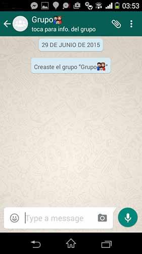 Crea el grupo