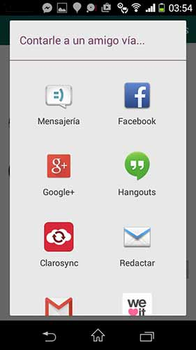 Invita a tus amigos a utilizar WhatsApp