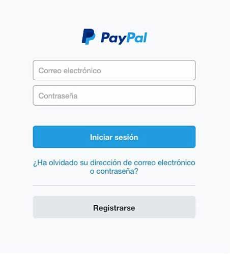 Ingresa a tu cuenta de PayPal