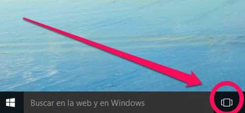 Haz clic en el ícono vista de tareas