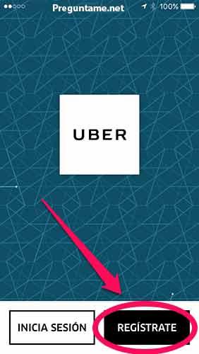 Registra tu cuenta en Uber