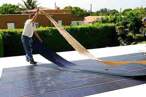 Elige páneles solares de película delgada